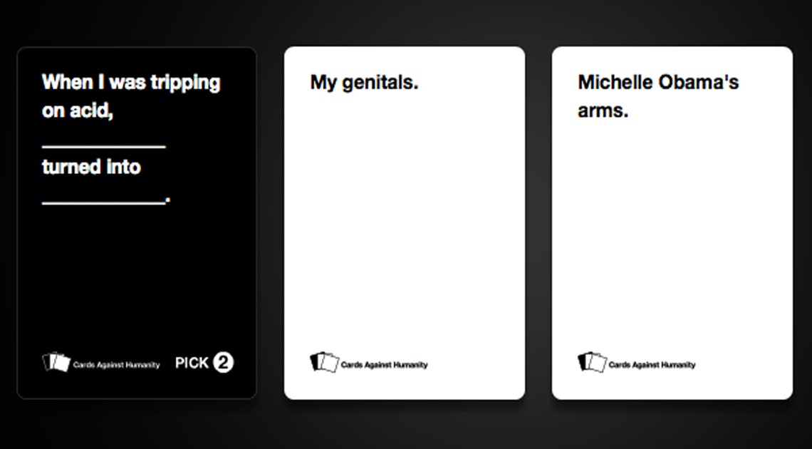 Slider Cards Against humanity