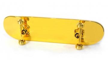teuerstes skateboard der welt, gold