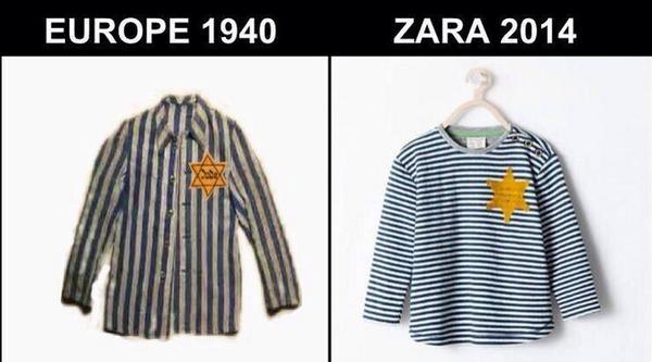 ZARA politisch unkorrekte Mode Skandal Kindershirt Uniform KZ Scheriff Judenstern gestreifte Pyjamas