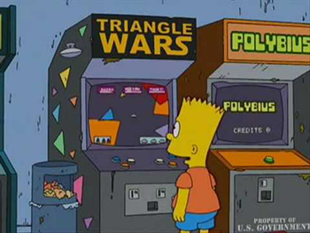 Polybius-Automat bei den Simpsons