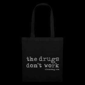 The Drugs Don't Work Tasche schwarz Gitzer silber