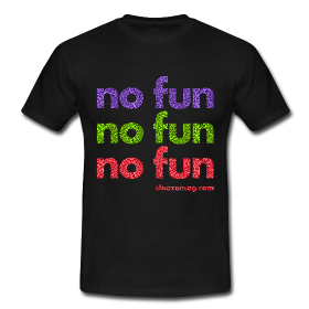 NO FUN T-Shirt schwarz Merch
