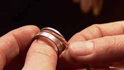 Schmuck aus Haaren Haarschmuck Haare Kreuz Kette Schmuck aus Haaren Tutorial Ring der eine Ring kreative Geschenke