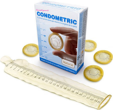 Condometric bizarre Kondome Kondom mit Lineal Penisgrößen Kondomgrößen