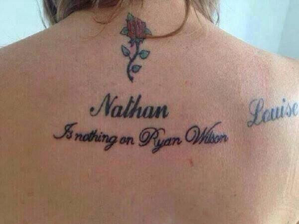 Tattoo vom Ex Coverup ohne lasern hässliche Rosentattoos Gurke tattoofail