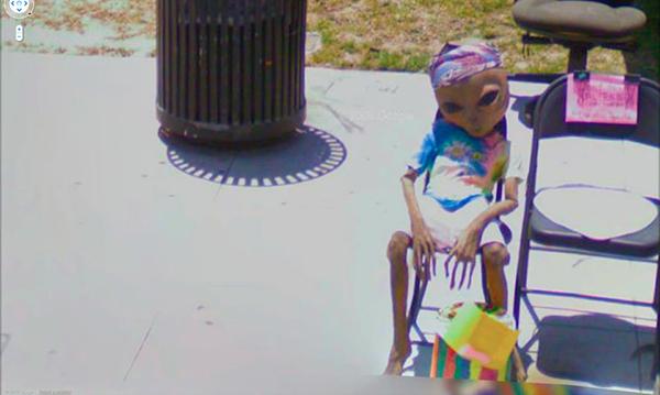 Google Street View liefert lustige Bilder Lustige Bilder in Google Street View Alien