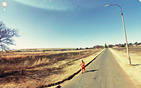 Häftling auf der Flucht Lustige Bilder in Google Street View