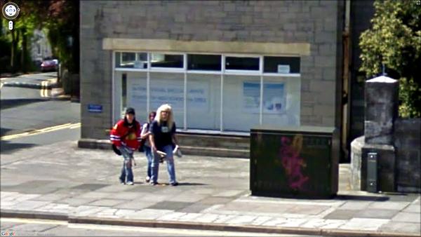 Drehpause Waynes World Set Google Street View Schnappschüsse