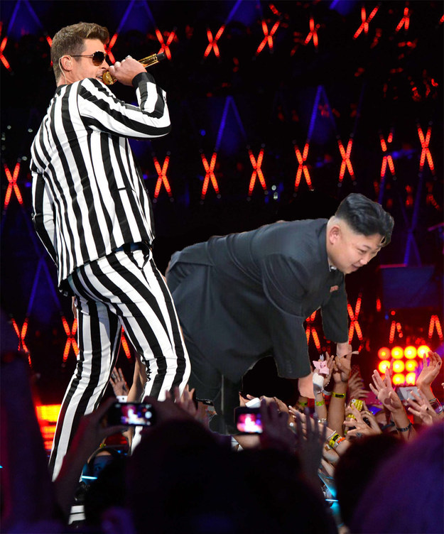 Robin Thicke testet Kim Jong Un twerking VMA Interview