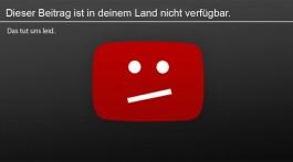 Hier gibt es nichts zu sehen: Gesperrte Videos auf Youtube