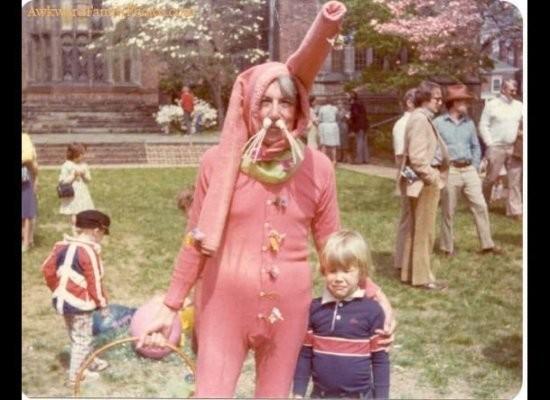 hässliche Osterhasen rosa dress