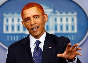 Barack Obama prominente Rotschöpfe
