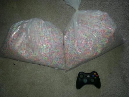Betrunkene Einkäufe marshmallow Snacks