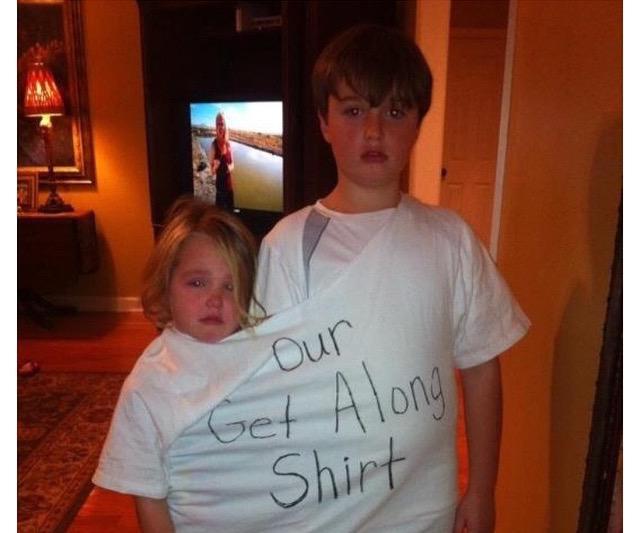 get along shirt kinder die sich streiten kindererziehung