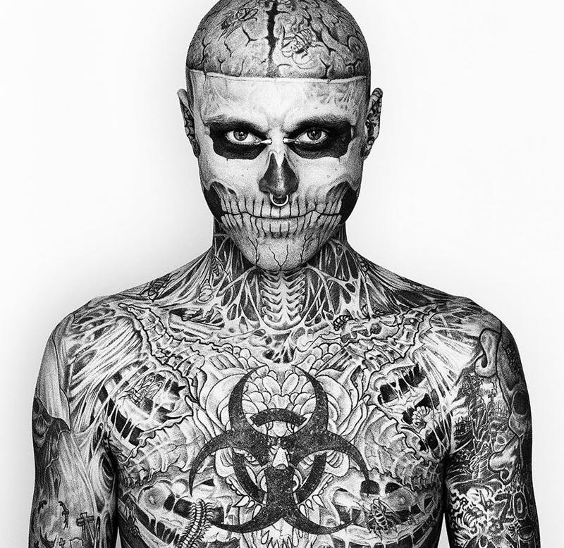 Rick Genest Rico the Zombie Gesichtstattoo