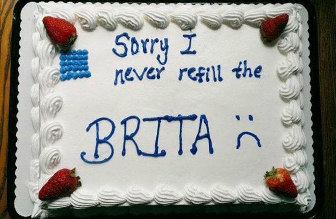 Kuchen als Entschuldigung cake apology sorry