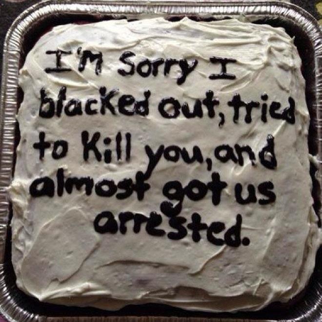 Kuchen als Entschuldigung torte für verzeihung