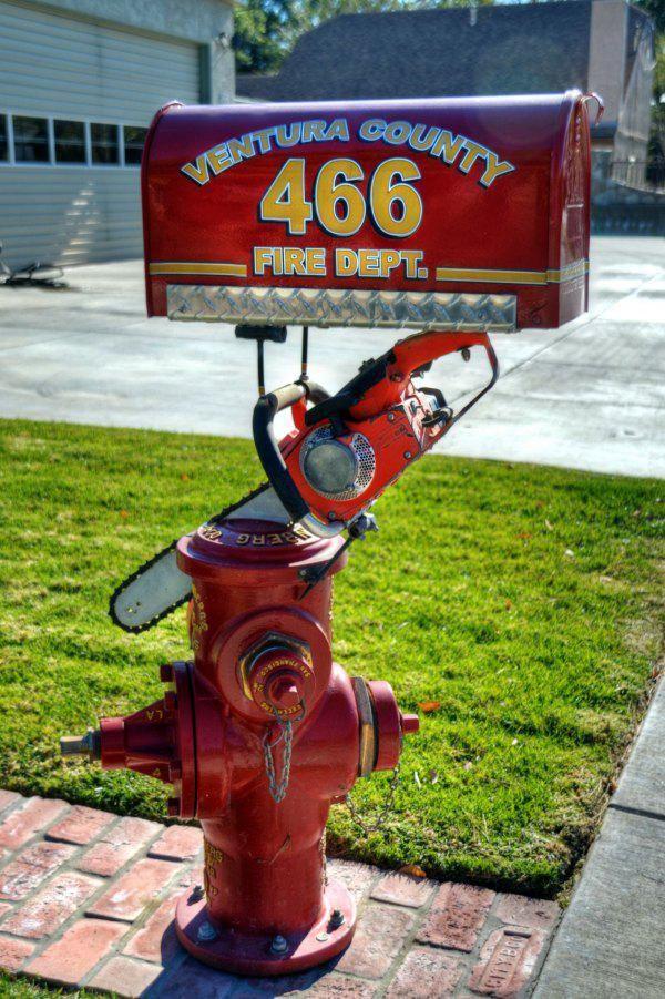 Feuerwehr Briefkasten lustige seltene Briefkästen