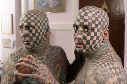 Schachbrett Tattoo seltene Tattoos