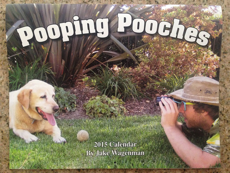 kalender pooping pooches by jake wagenmann