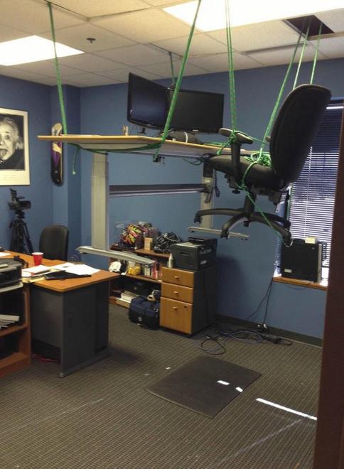 Mehr Spaß am Arbeitsplatz streiche im büro
