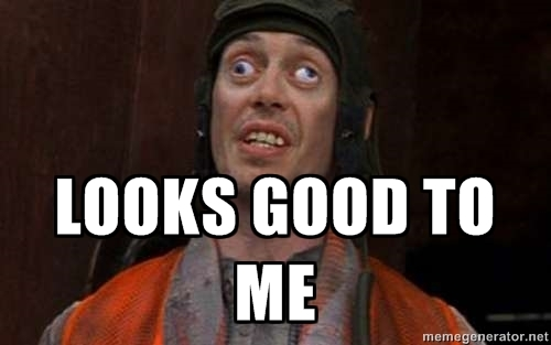 Steve Buscemi meme look