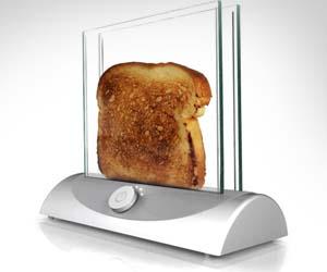 Glas Toaster durchsichtiger Toaster