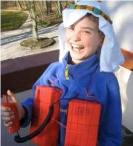 unpassende halloweenkostüme für kinder_terrorist