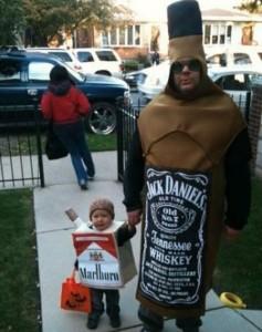 unpassende halloweenkostüme für kinder _zigarette