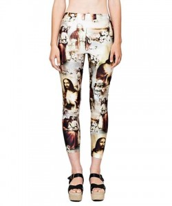jesus print-leggings