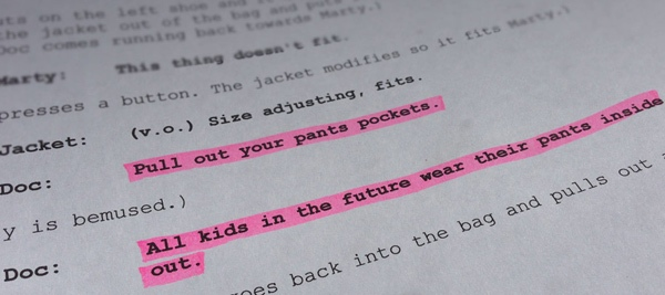 back to the future outties pockets