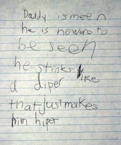 Notizen von Kindern