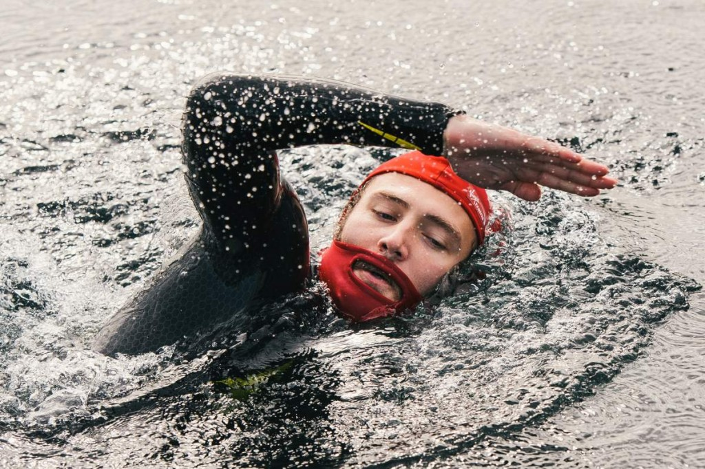 Beard Cap swimming