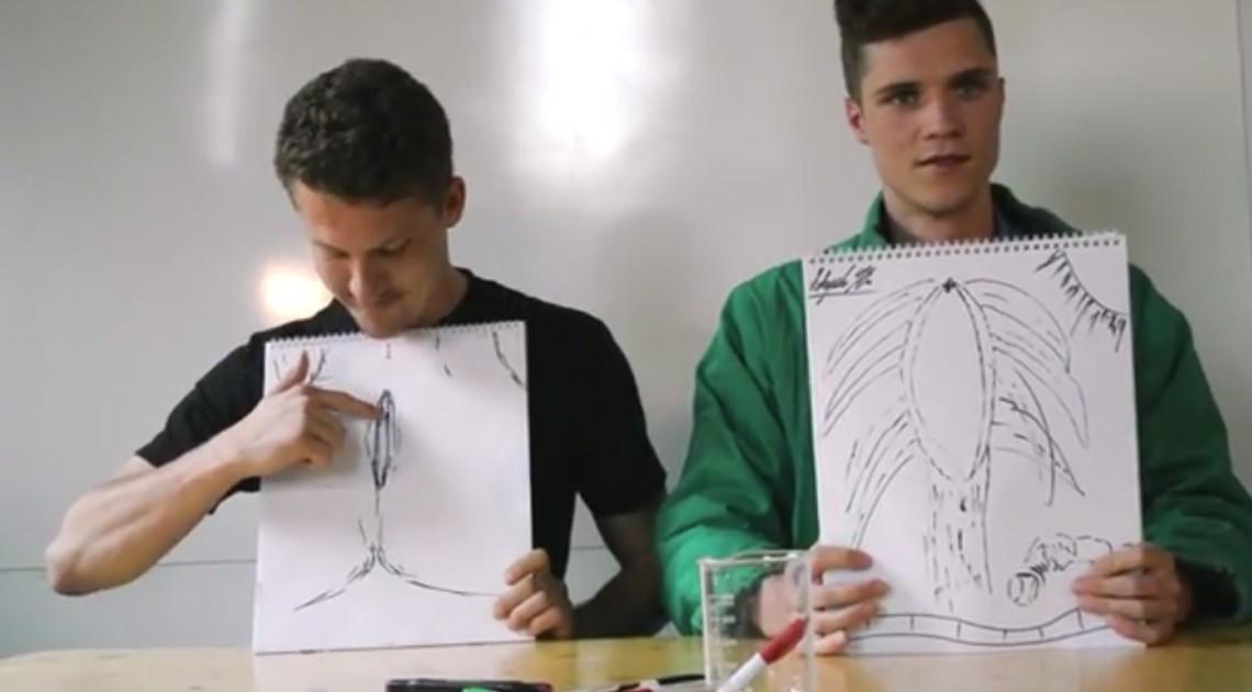 Männer zeichnen eine Vagina Lolpervs YouTube