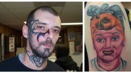 hässlichste tattoos schlechtes portrait gesichtstattoo tattoo gurken sleaze
