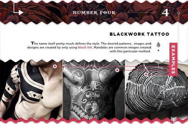 tattoo-stilrichtungen blackwork schwarze fläche tattoo chief maori
