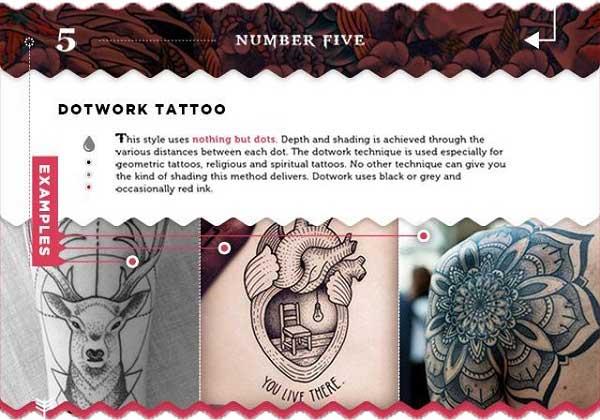 tätowierungen stilrichtungen arten dotwork blackwork punkte mandala tattoo chief
