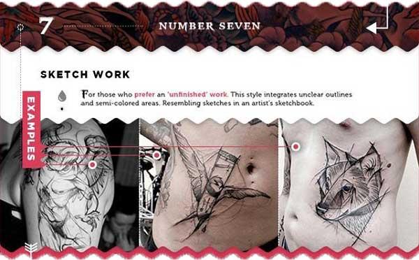 tattoo arten stile sketch skizzen grafisch tattoo chief