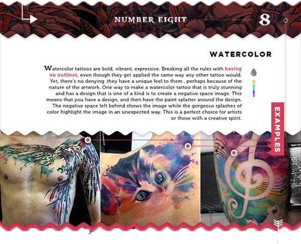 tattoo styles erklärt aquarell watercolor tattoo chief