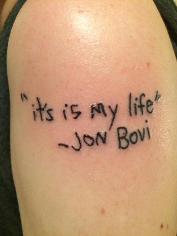 jon bovi sleaze tattoo