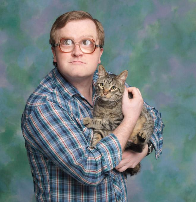 Männer und Katzen Portraits