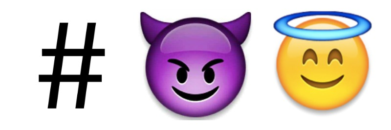 Versaute Emoji-Hashtags