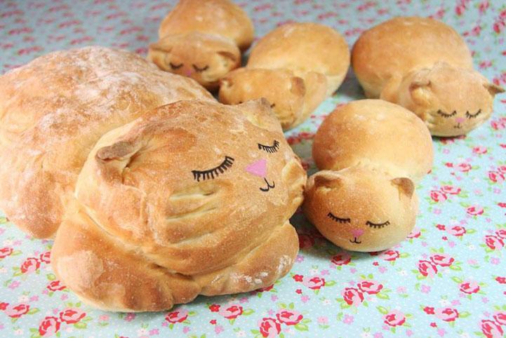 Brot in Katzenform Lou Lou P
