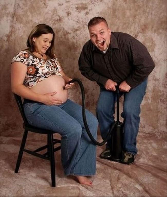 babybauch aufpumpen schreckliche babyfotos