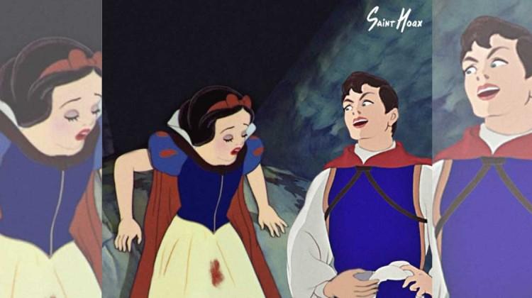menstruierende Disney Prinzessinnen Quelle Saint Hoax