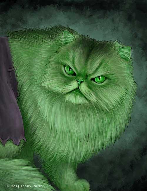 jenny parks illustrations hulkitten hulk als katze