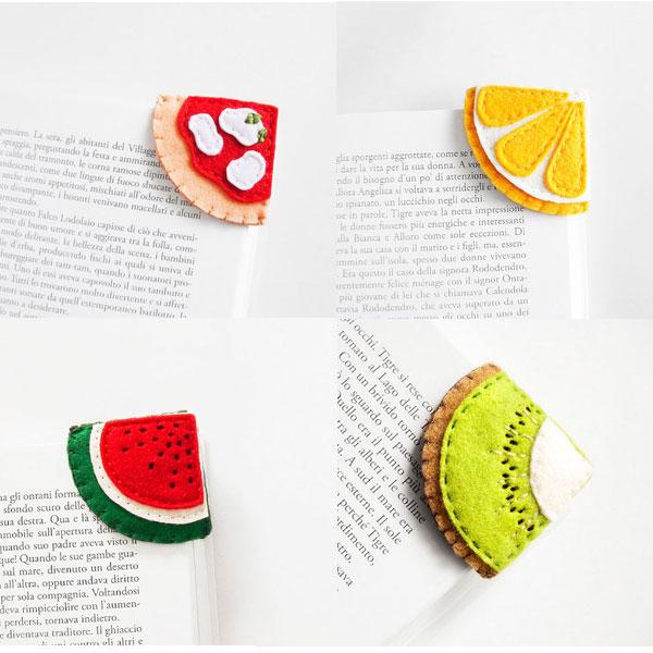 pizza lesezeichen filz geschenkidee produktliste internet coole dinge