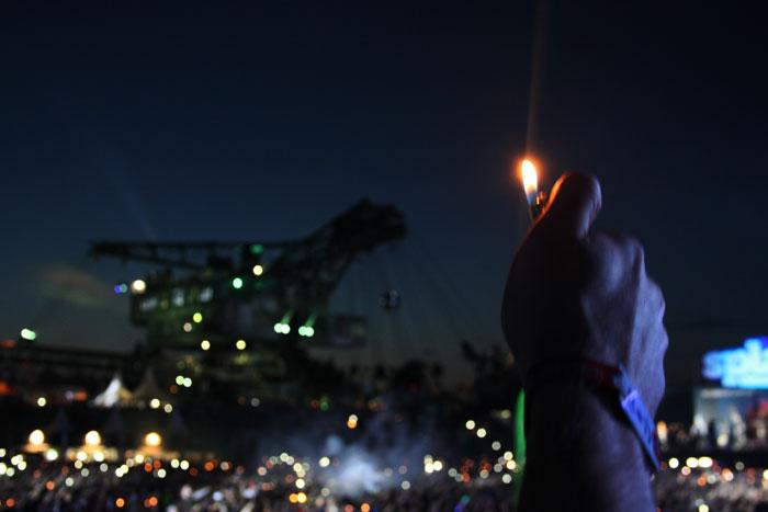 Feuerzeug romantisch beim Splash! festival