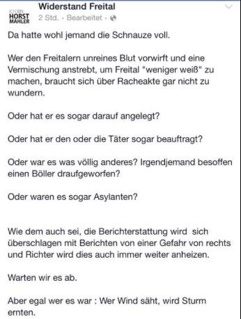 widerstand freital nazi fremdenhass sprengstoffanschlag