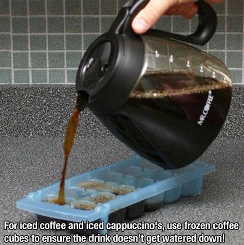 Tricks für den Alltag Kaffee Eiswürfel Iced Latte selber machen